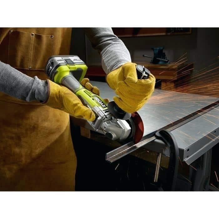 Ryobi P423 One+ 18V Brushless 4-1/2 Angle Grinder Review