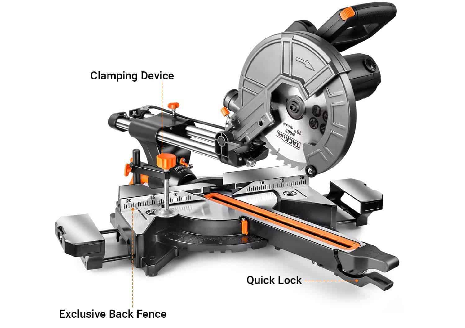 Tracklife 15 AMP 10-Inch Sliding Compound Miter Saw