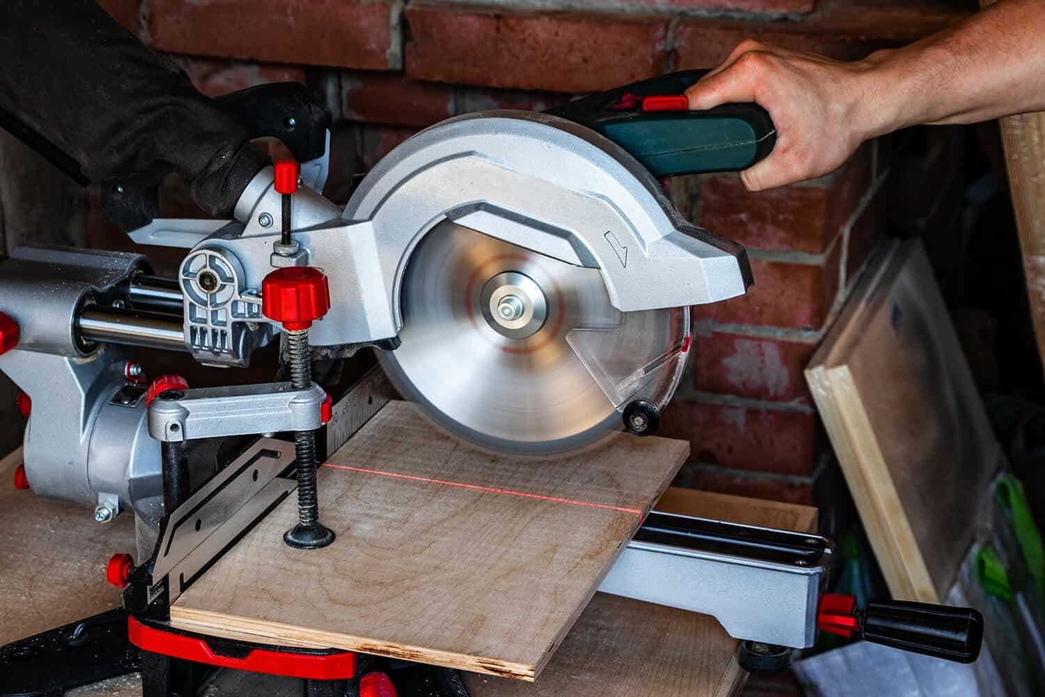 Miter Saw close up