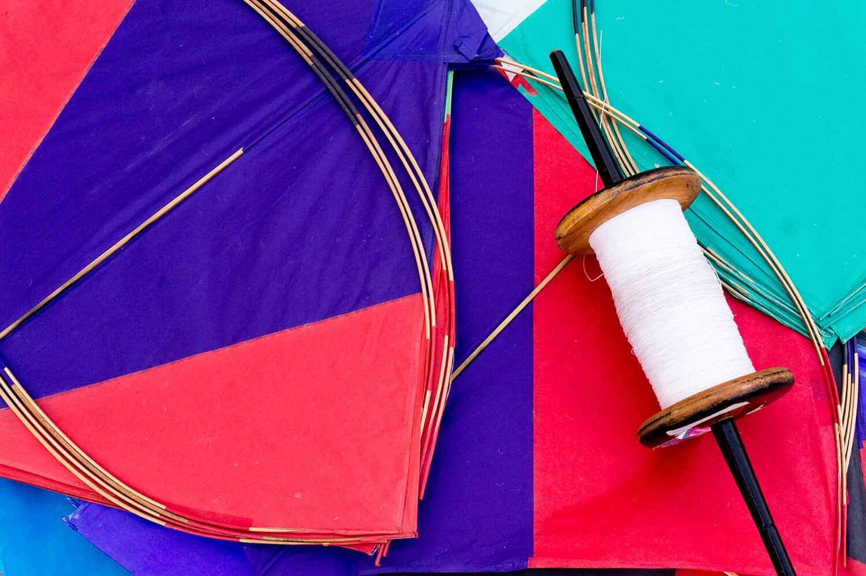 Winding Kite String