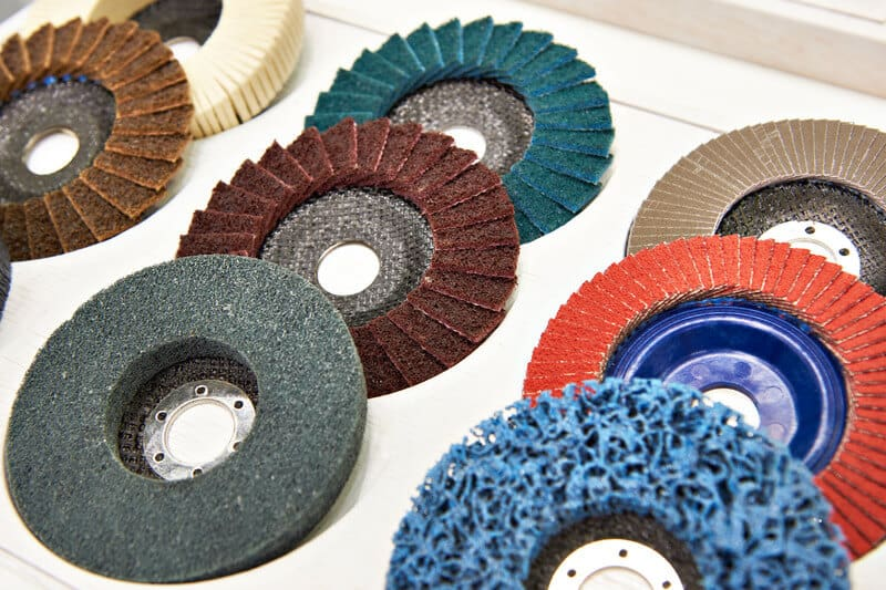 Flap Abrasive Wheel For Polish Metal With an Angle Grinder