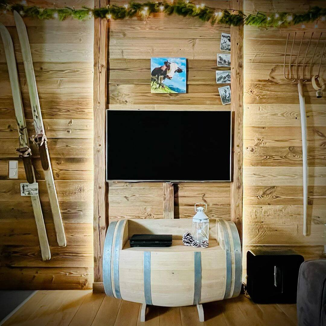All Wood Media Console