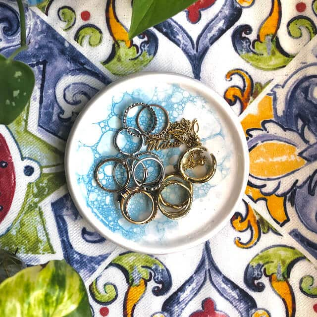 DIY Watercolor Jewelry Dishes
