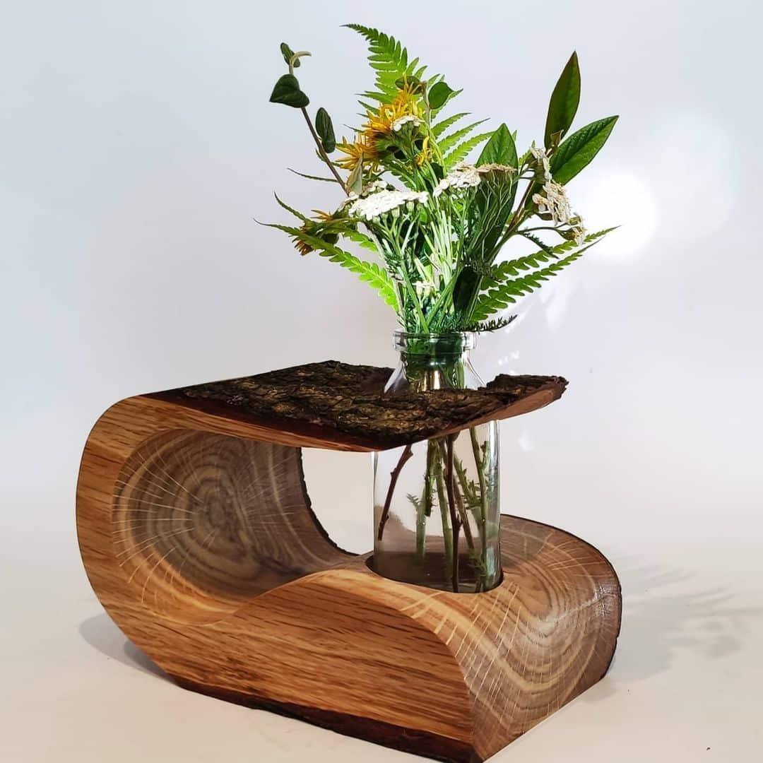 DIY Wooden Flower Vases Gift