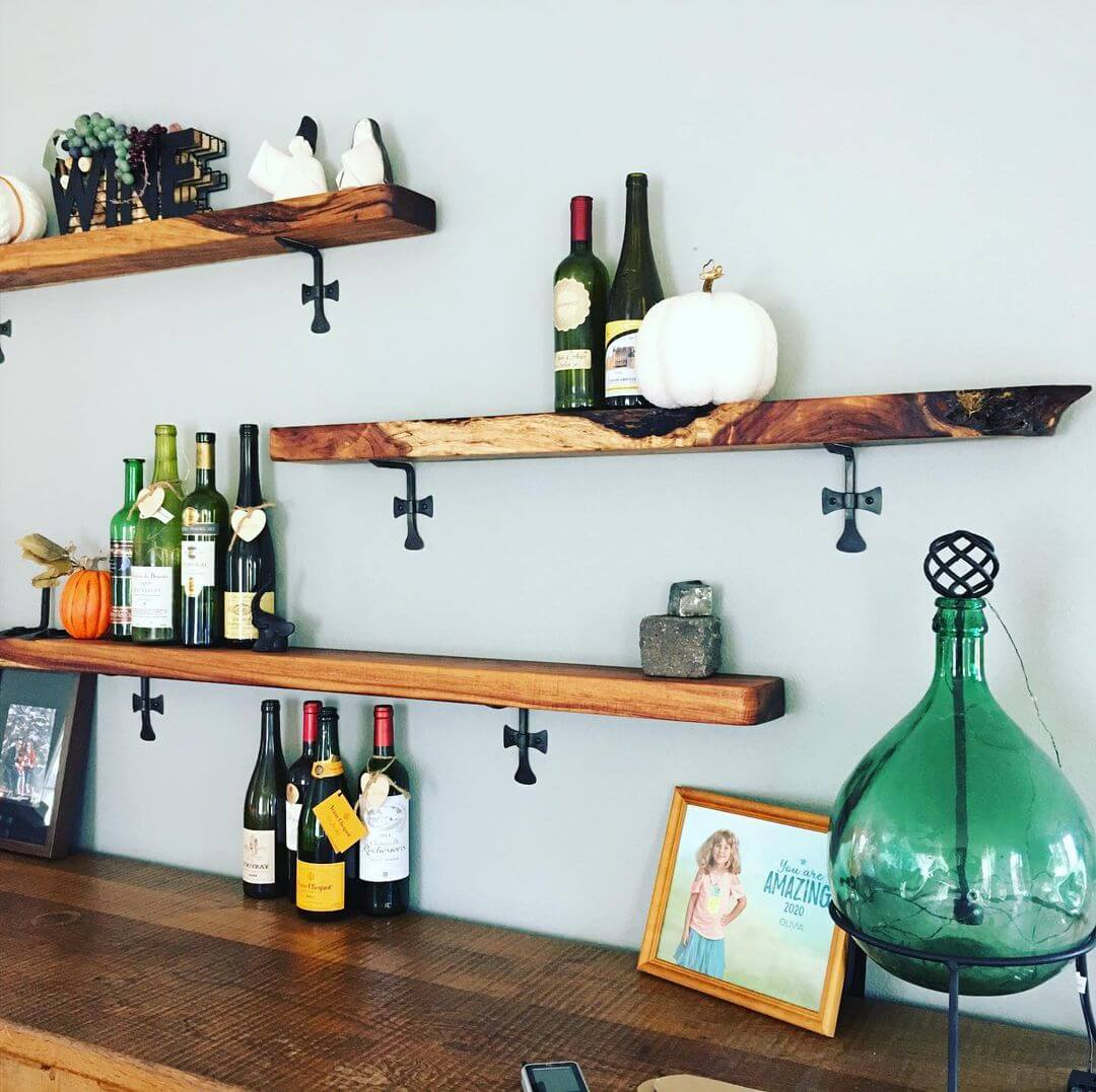 Koa Wood Shelves