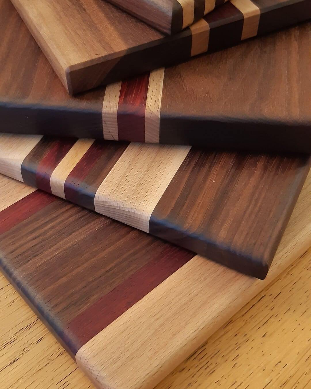 Paduak Wood Shelves