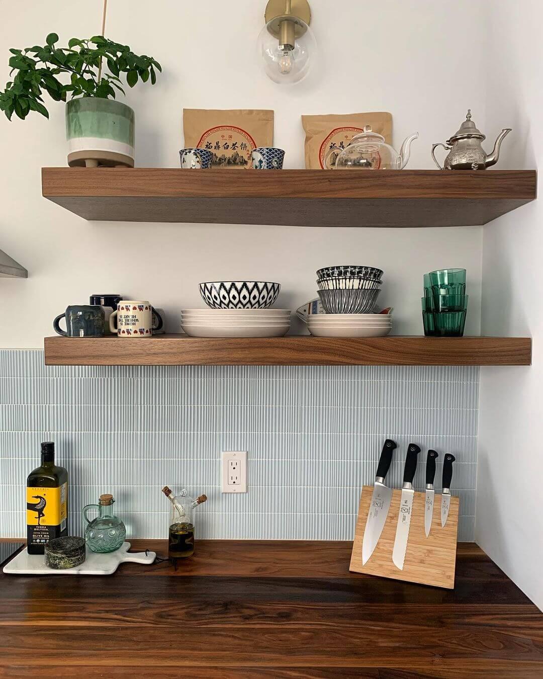 Walnut Wood Shelves