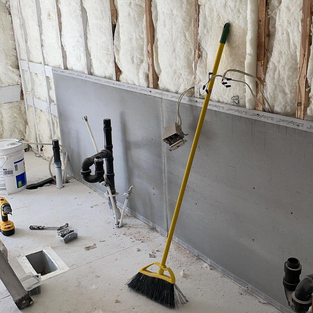 Cement Board Install for Basement