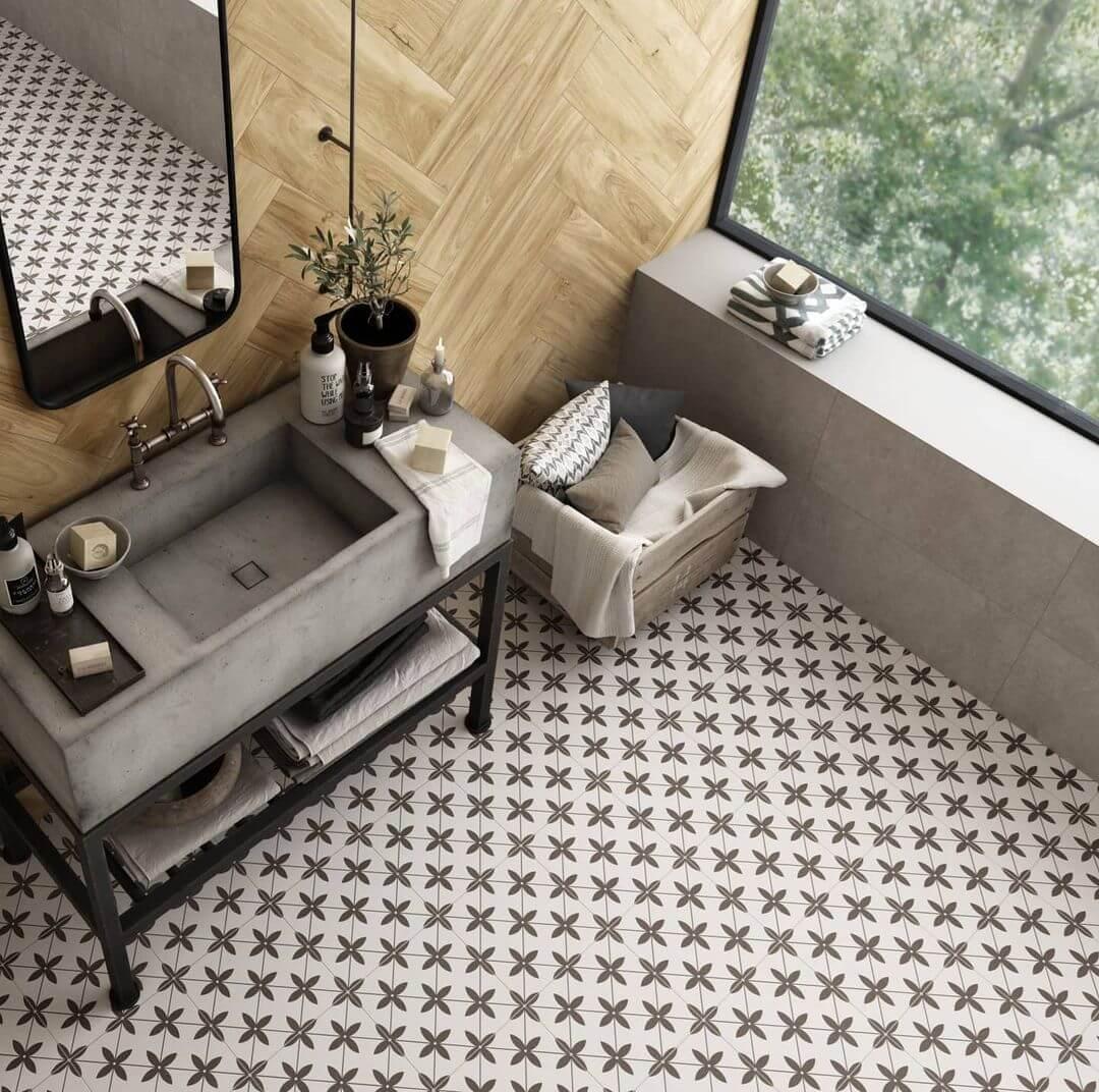 Durham Grey Porcelain Floor Feature Tile