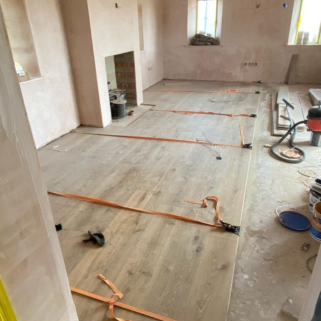 Engineered Wood Basement Installation