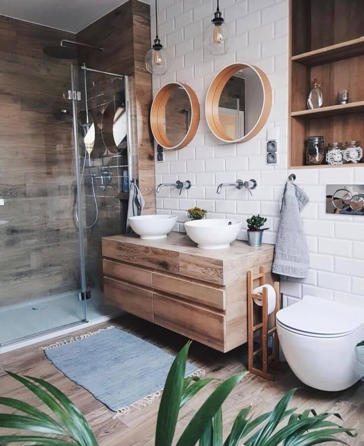 Matte White Subway Bathroom Tile