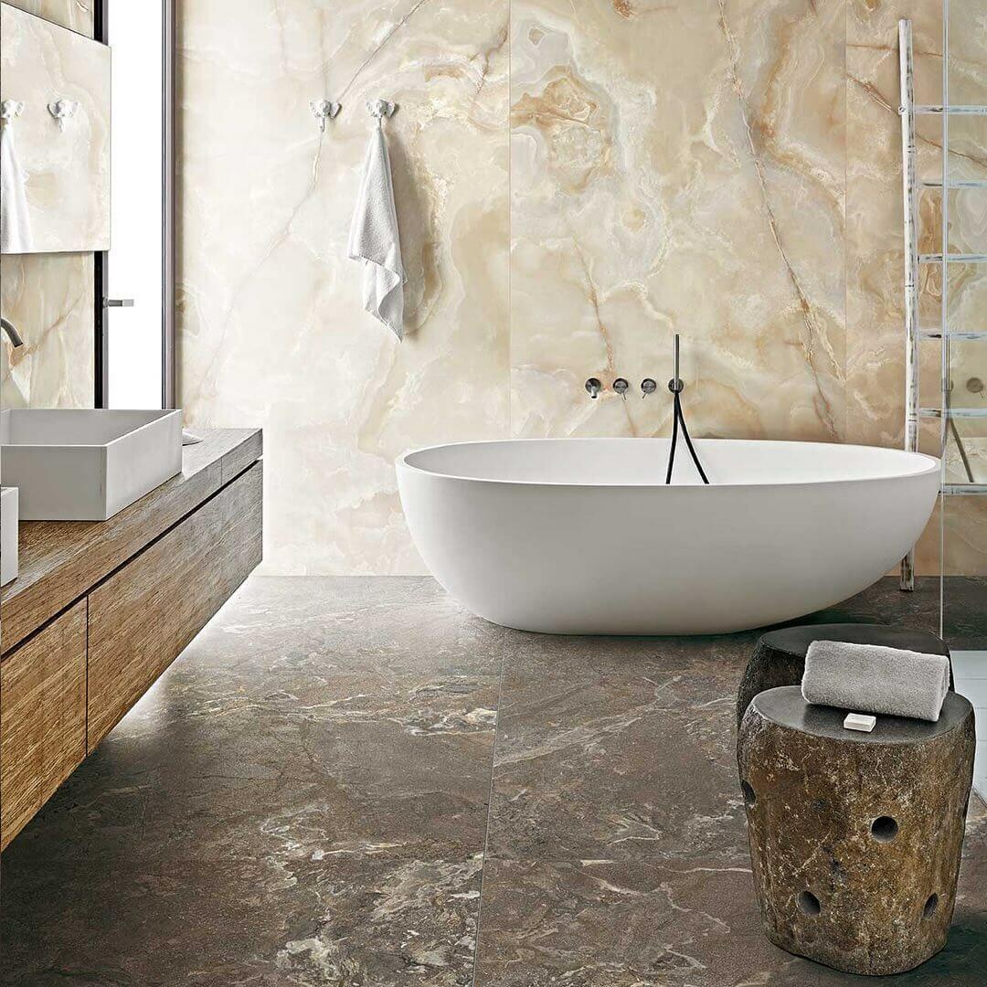 Onyx Mist Honed Marble Mosaic Wall Tile