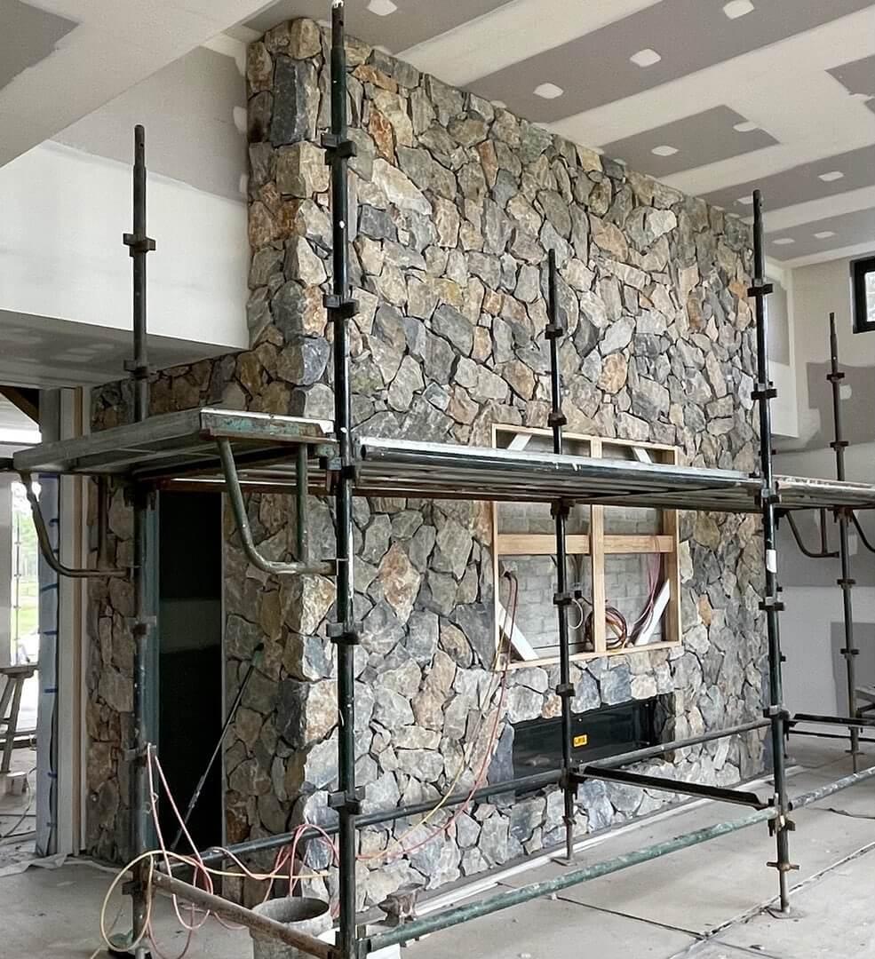Stone and Brickwork Basement Install