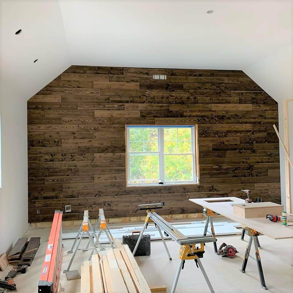 Tongue and Groove Wall Panels Install