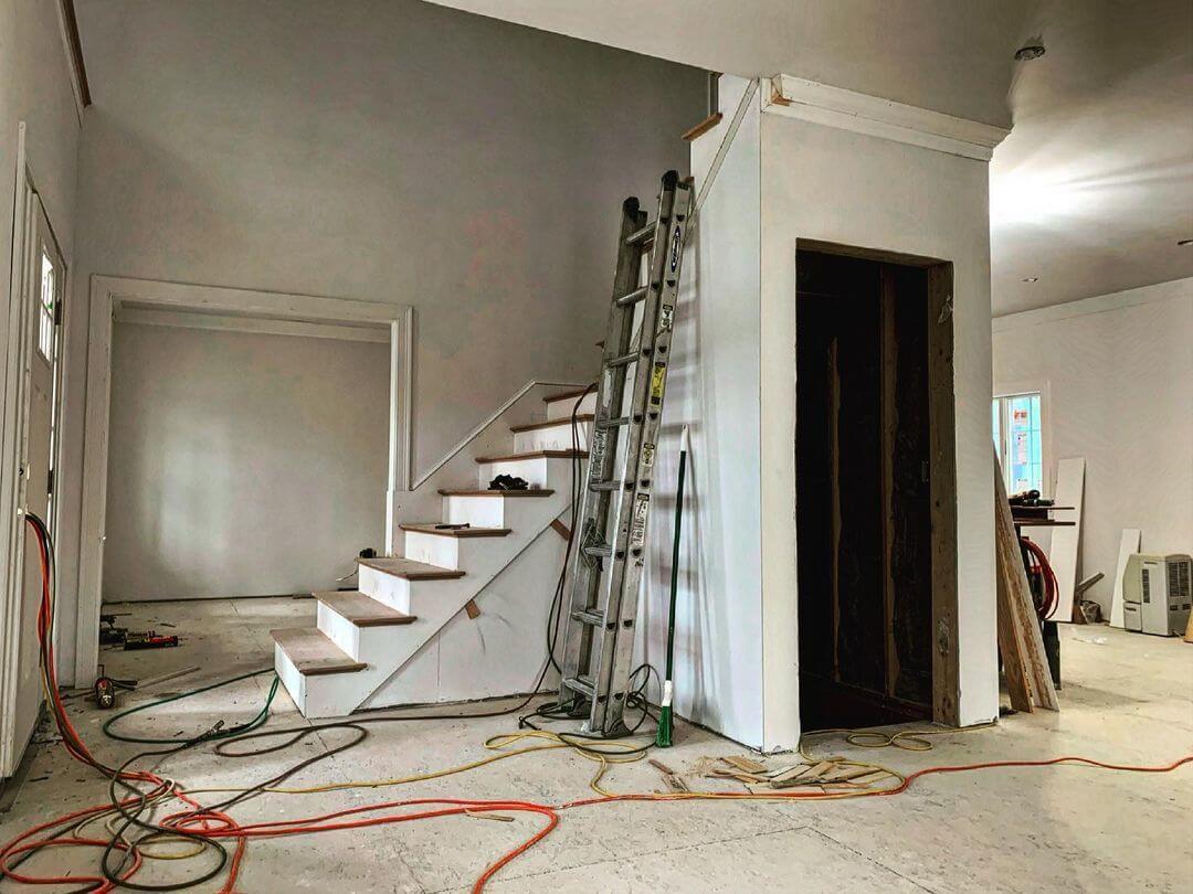 Veneer Plaster Install Basement