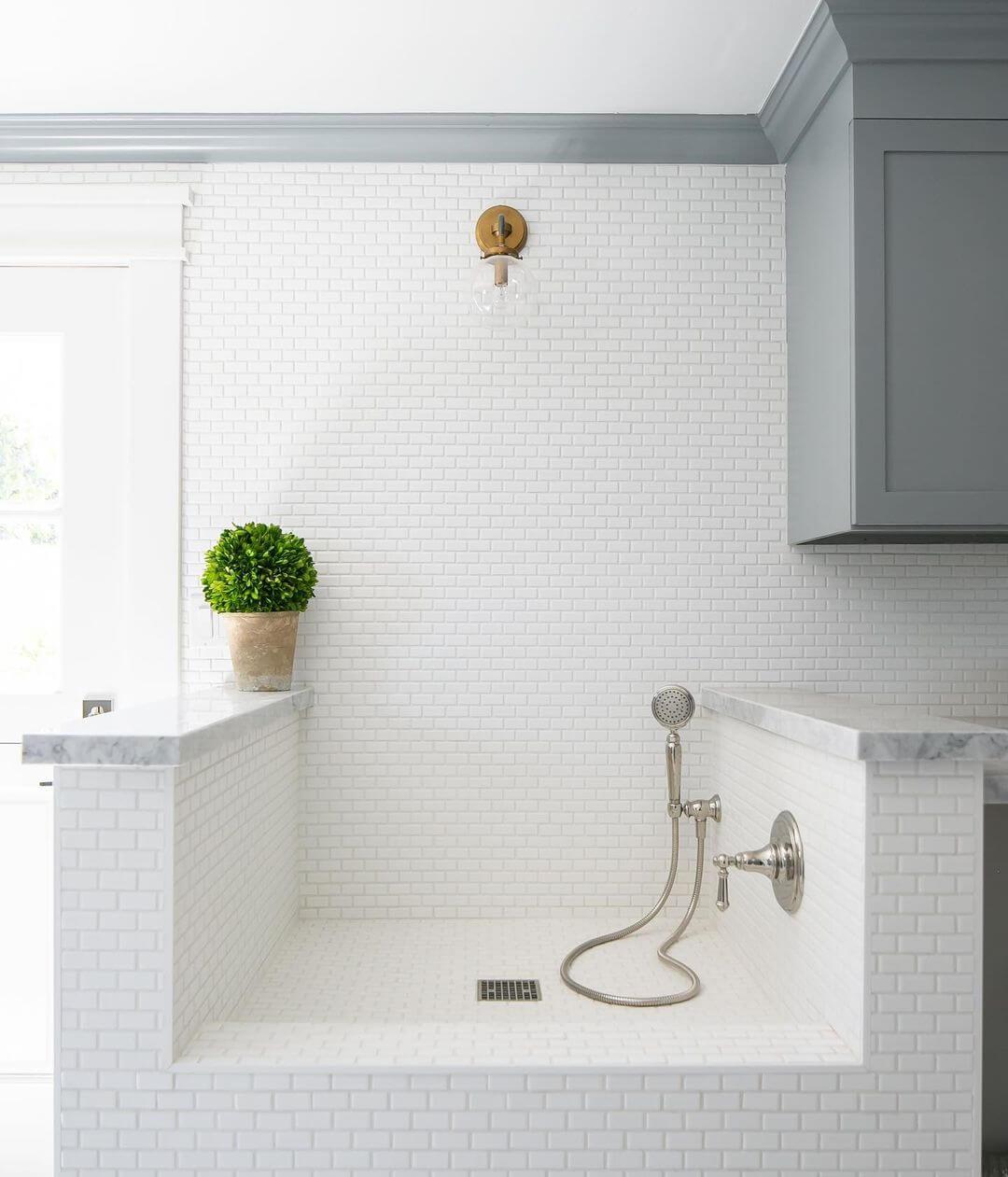 White Mini Brick Tile