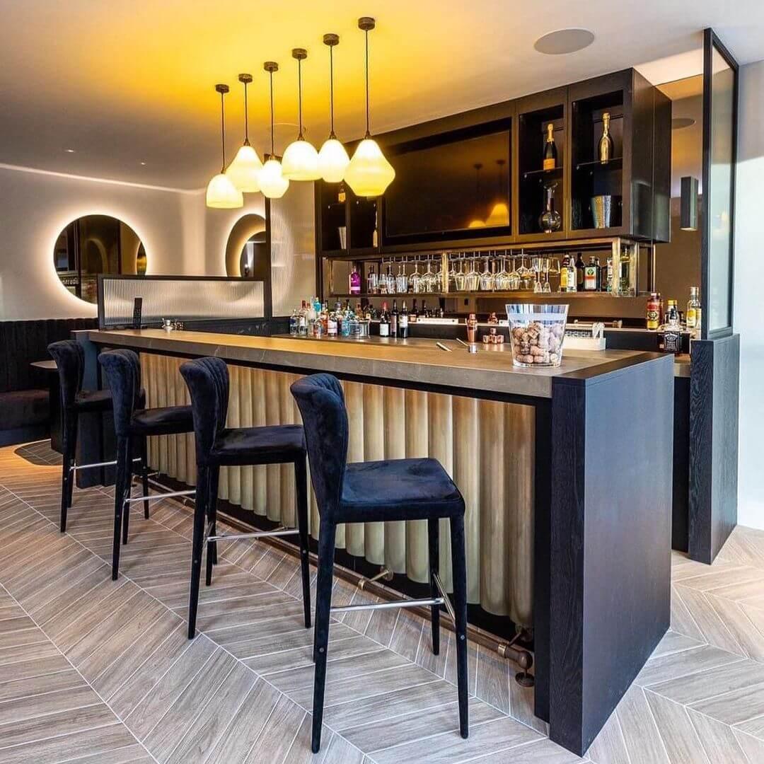 Artisan Style Basement Bar