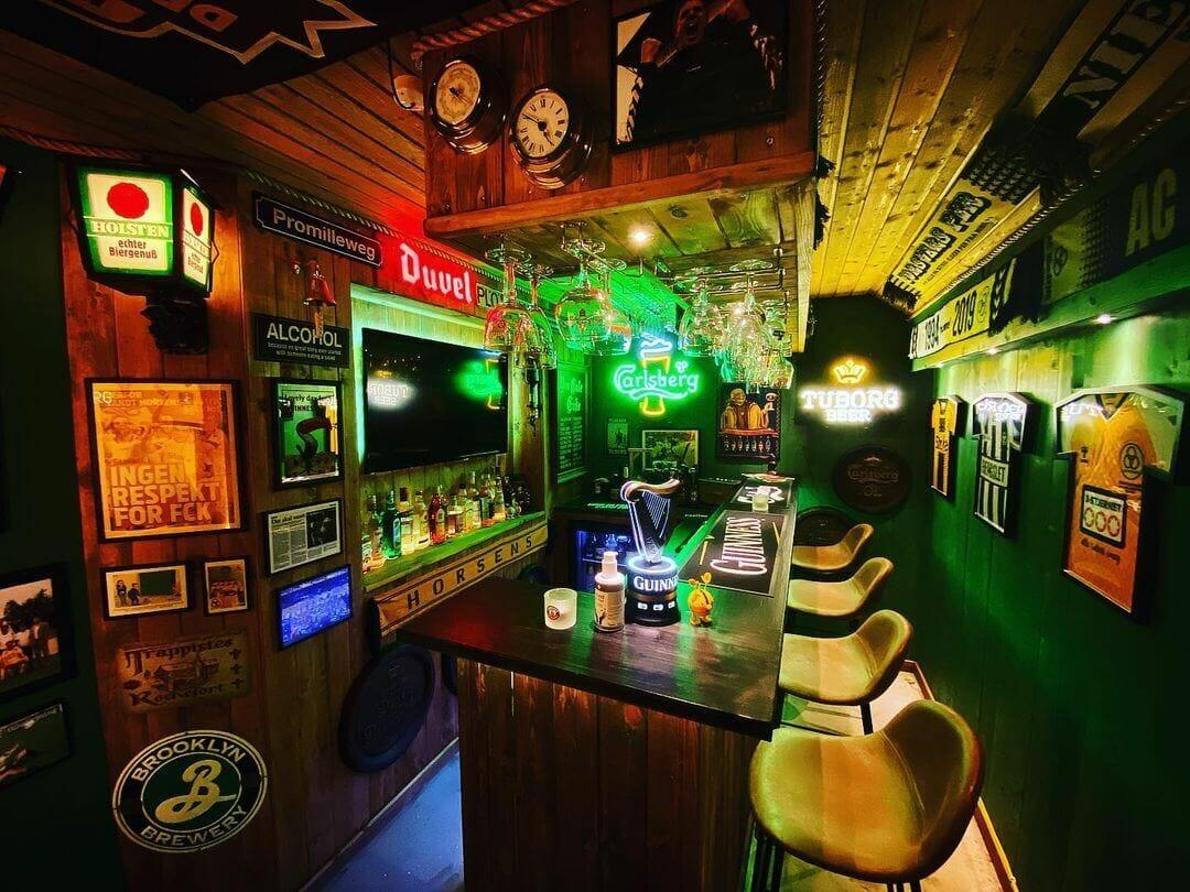 Backyard Irish Pub Shed