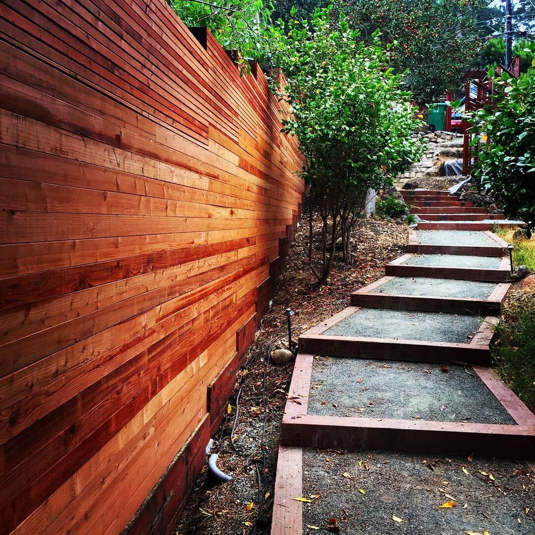 Horizontal Slat Fence