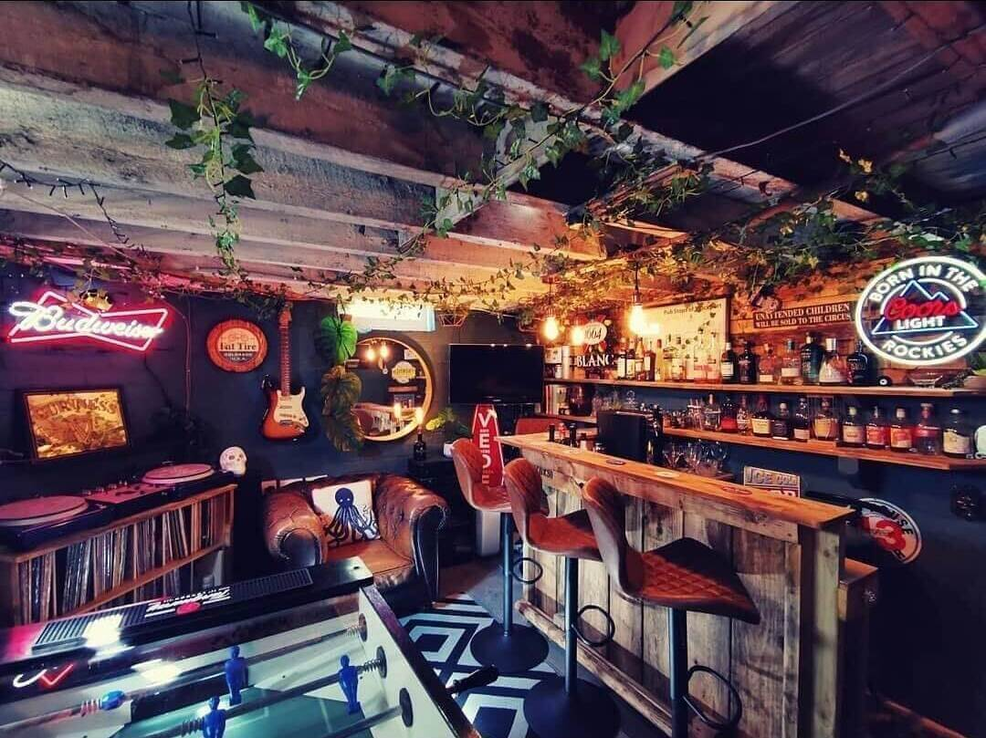 Man Cave Basement Bar
