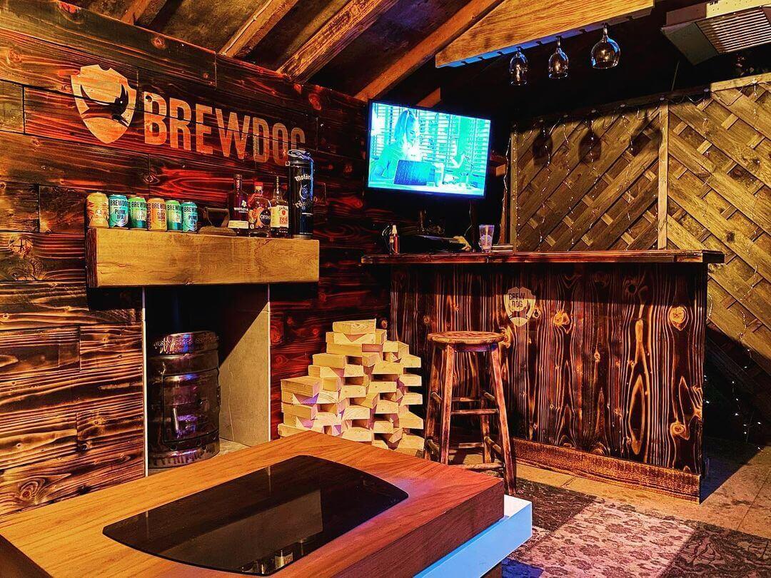 Farmhouse Basement Bar