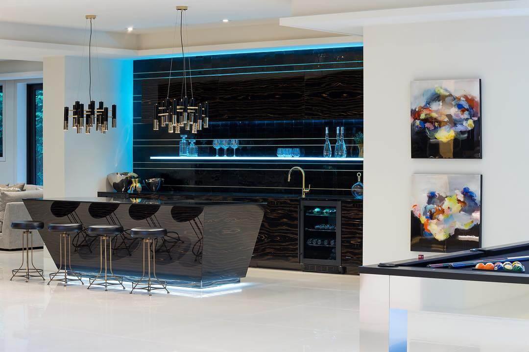 Modern Basement Bar Design