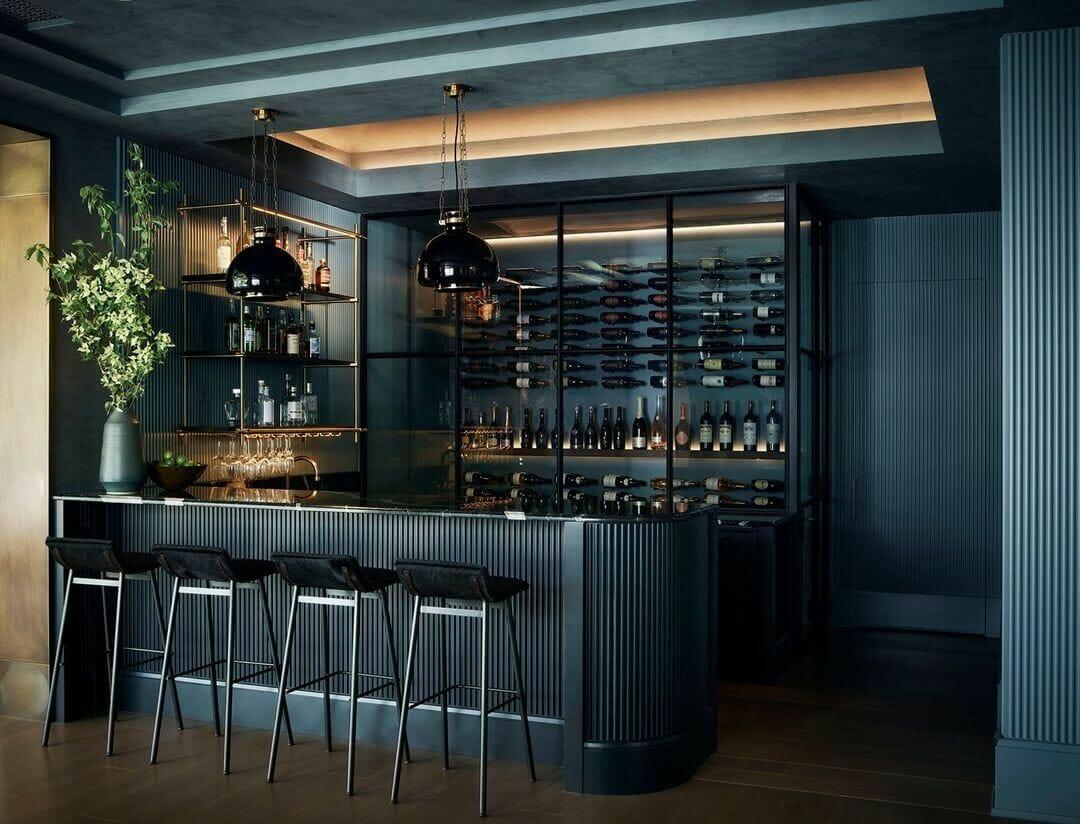 Nightclub Vibes Basement Bar Design
