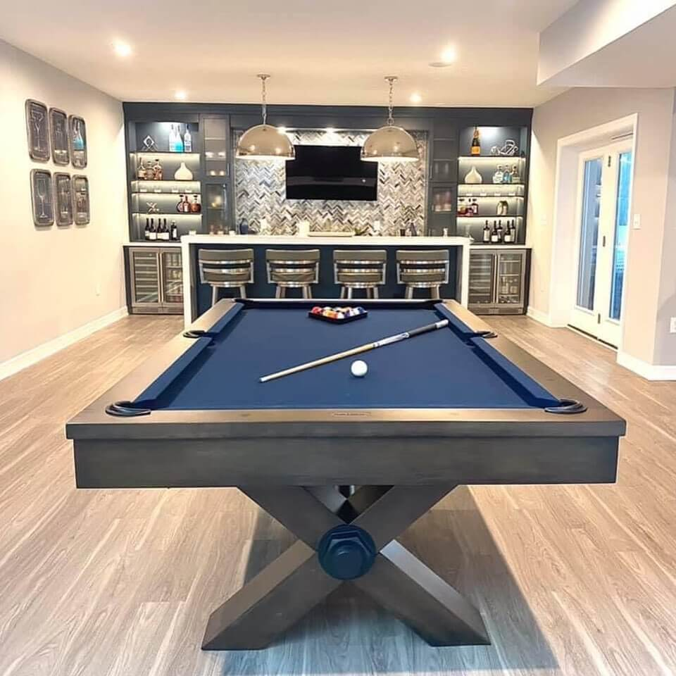 Recreational Basement Bar Design