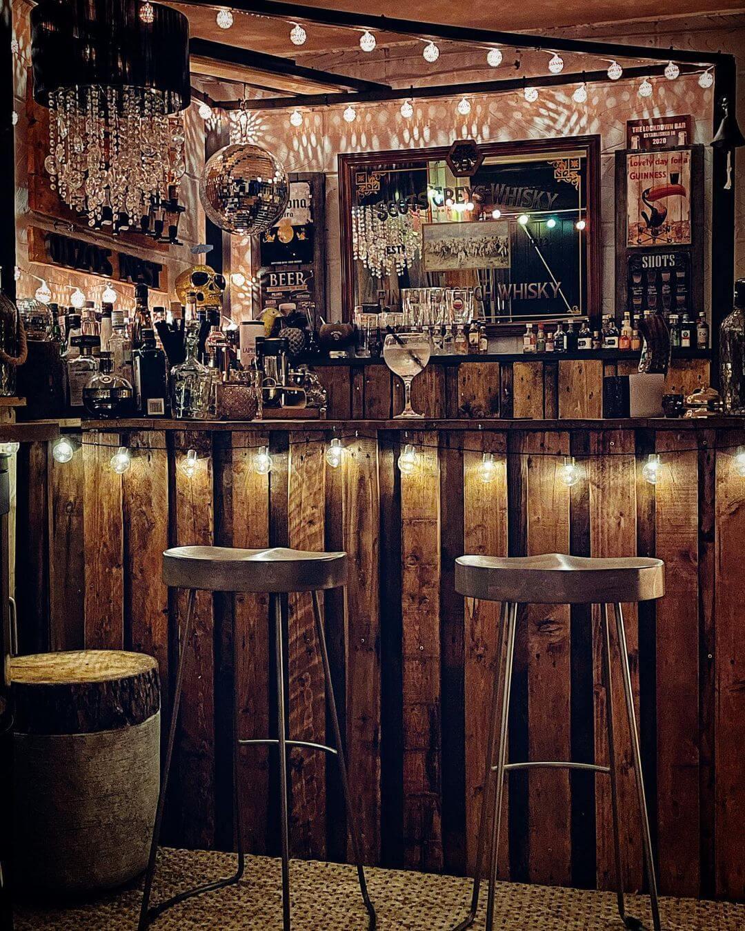 Rustic Backyard Shed Bar