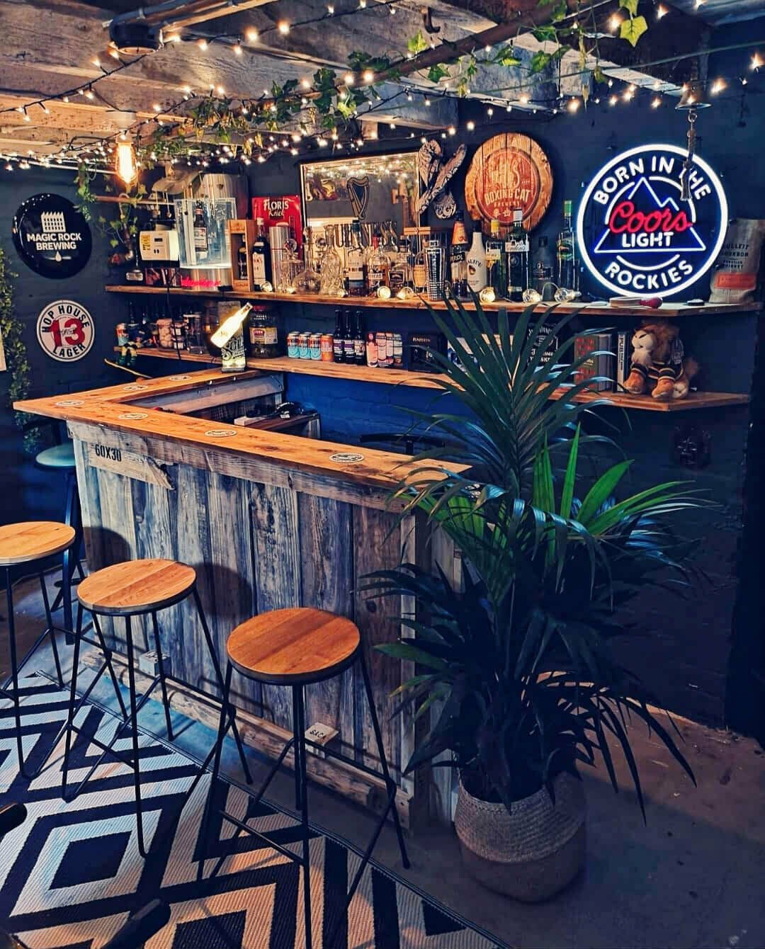 Rustic Whiskey Bar Shed