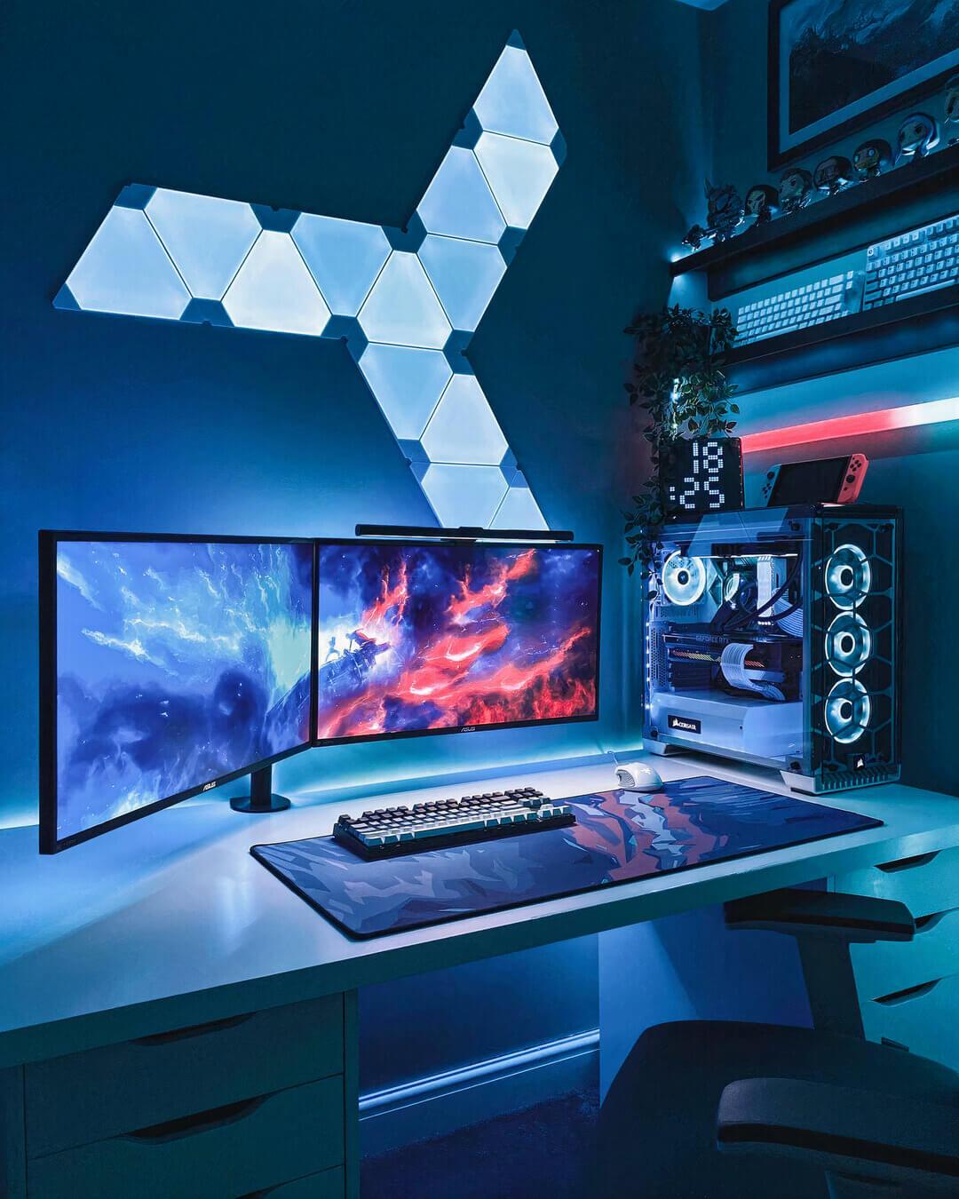 Futuristic Gaming-Room Setup