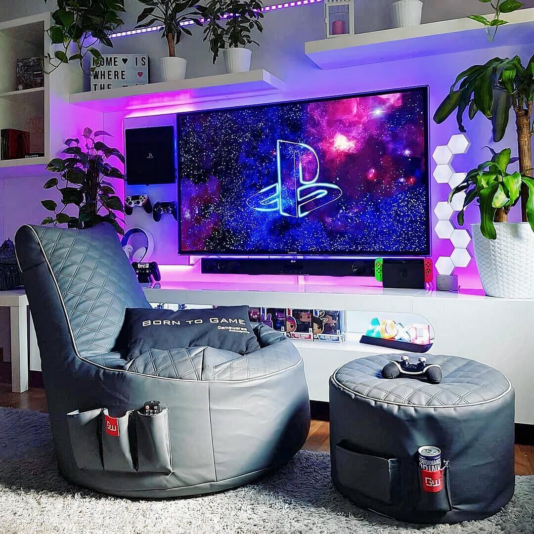Living-Room Gaming Setup