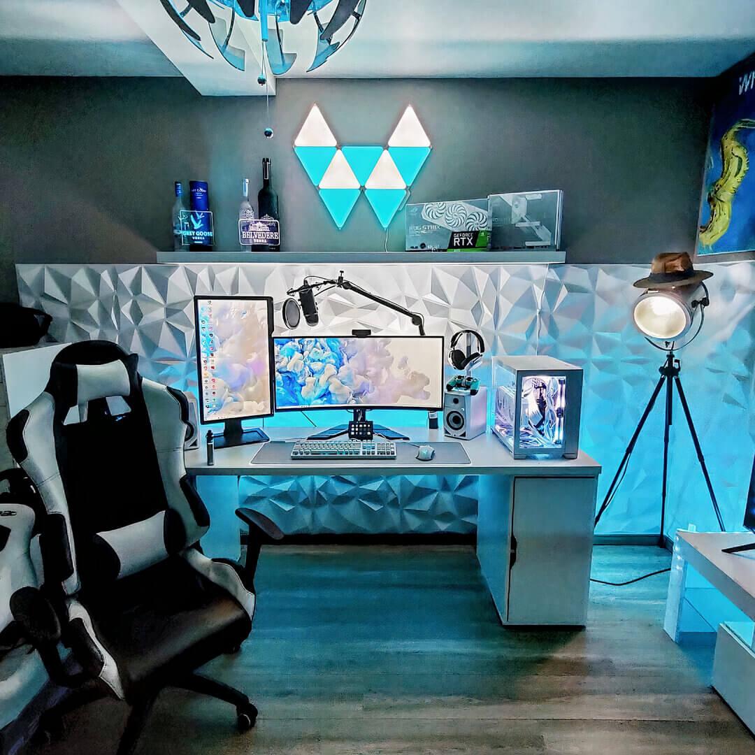 Minimalist Gaming Room