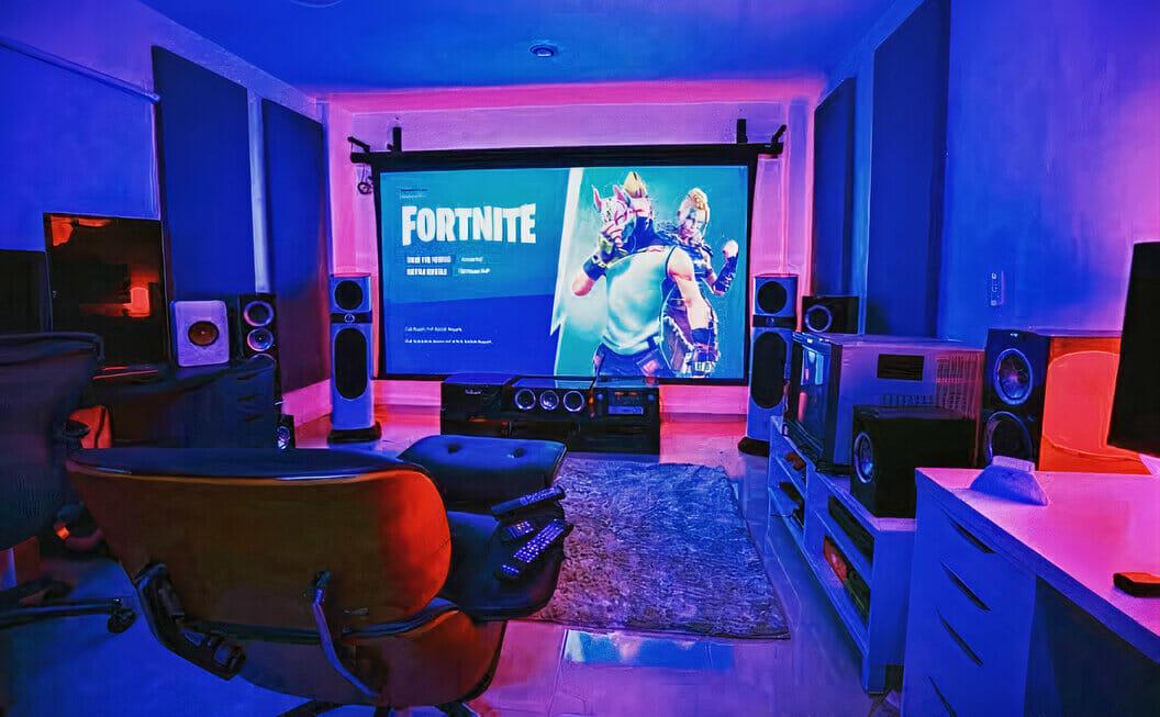 Projector Gaming Setup